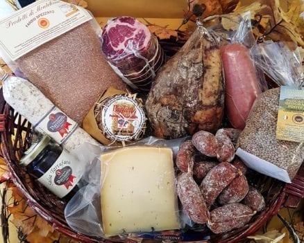 confezione regalo Strenna con prodotti tipici da Norcia