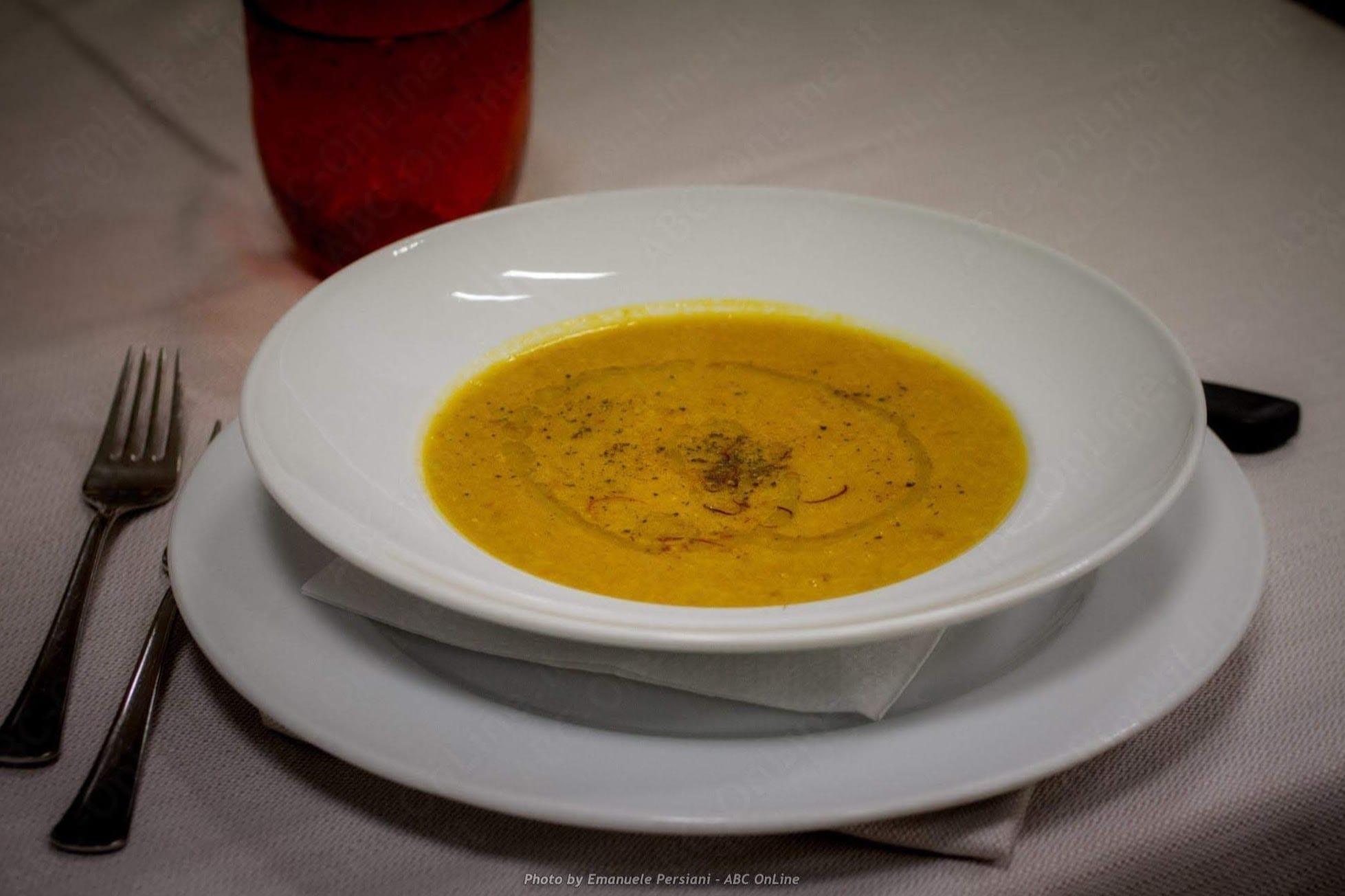 piatto zuppa zafferano di cascia
